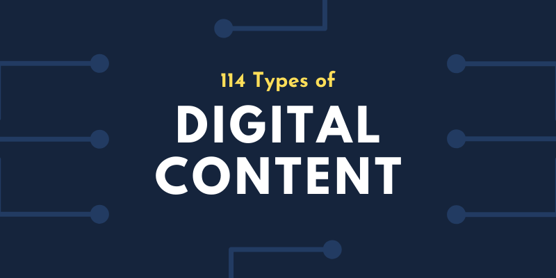 114 Types of Digital Content - Synergy XYZ