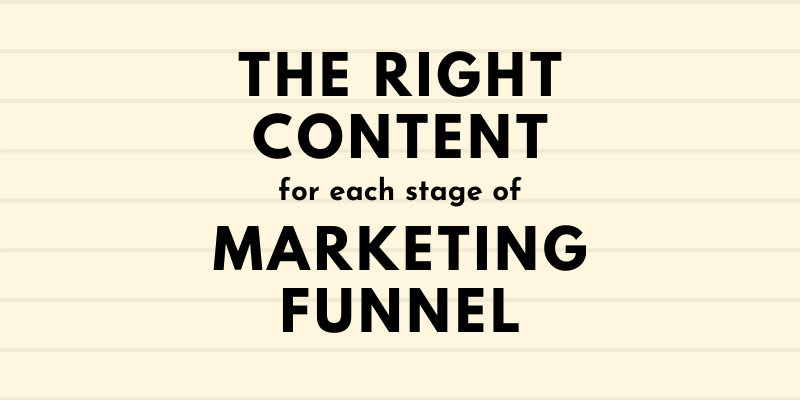 Right Content for Marketing Funnel - Synergy XYZ